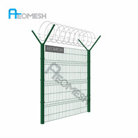 Made In Guangdong high quality Airport Fence Y post with razor barbed wire (professional factory)