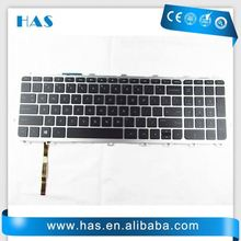 Hot selling Laptop keyboard for HP Envy 17 Envy 17-1000 Turkish Black silver frame backlit long cable made in China