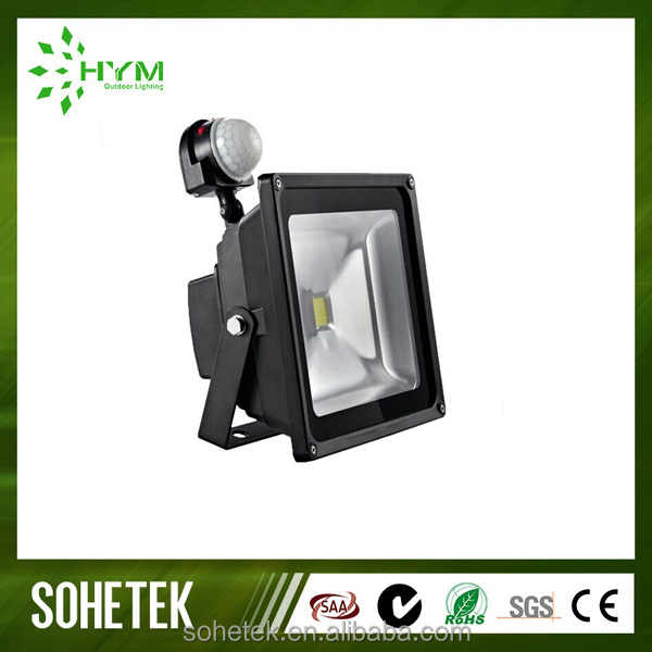 Wholesale Waterproof 10W 20W 30W 50w PIR Motion Sensor LED Flood Light Induction Sense Outdoor