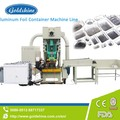 High speed aluminum foil container making machine with high productivity