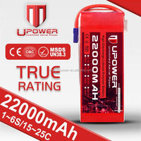 Upower 6 cell 22.2v 22000mah rc car battery 7.2v 1800mah Car Plane Helicopter Boat