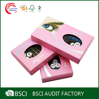 cardboard costom private label eyel packaging box