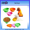 100% Food Grade collapsible microwave safe silicone rubber pet bowls
