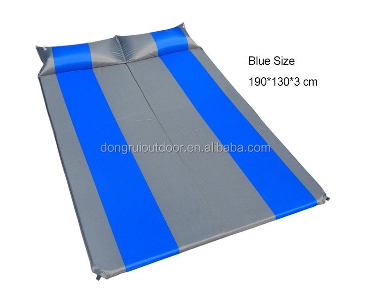 Outdoor Inflatable Sleeping Pad Camping Mat with Air Pillow