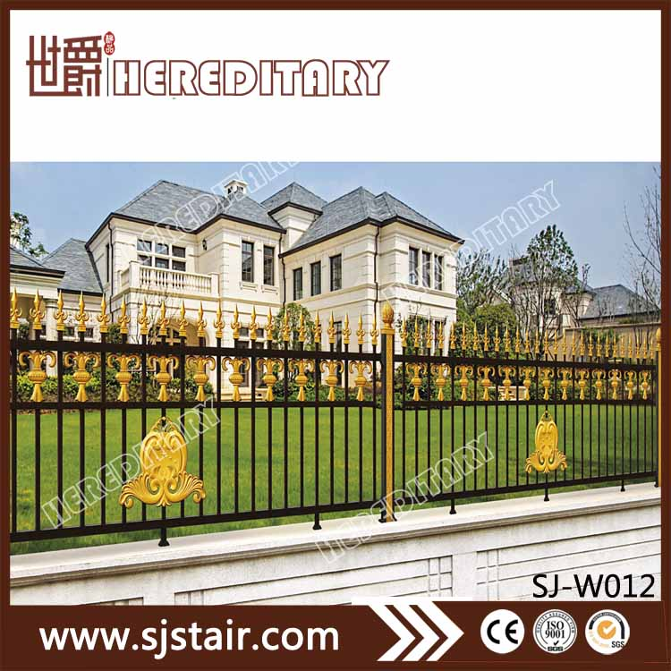 2017 New Style Security and Privacy Luxury Aluminum Garden Fencing Outdoor