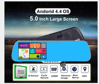 "Android Navi DVR gps Mirro 5"" Inch Rearview Mirror Navigation with Bluetooth"
