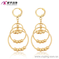 90583-xuping hot sale simple no stone gold bead earrings designs