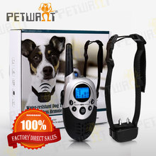 Rechargeable Remote 4 in 1 LCD Pet Dog Training Shock Collar for 2 Dogs