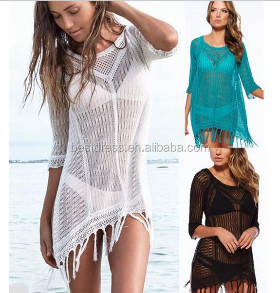 Wholesale High Quality Womens White Crochet Full Sexy Beach Dress XXX Photos