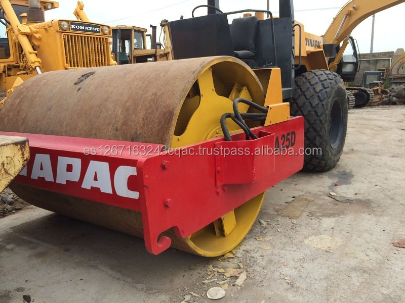 cheapest hot sale used dynapac road roller CA25D