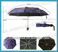 2013 New Product Galleria Three Folding Umbrella