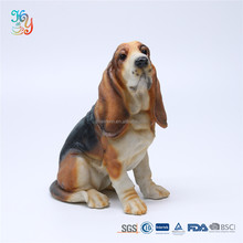 Large resin life size dog statues for home decoration