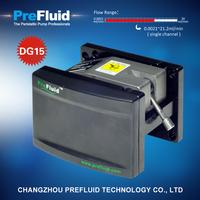 Prefluid DG15 Dispensing Pump head, dosing pump setup