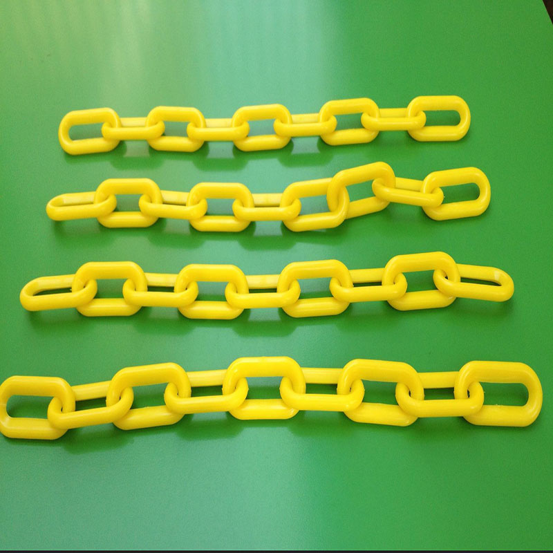 Colored safety plastic chain