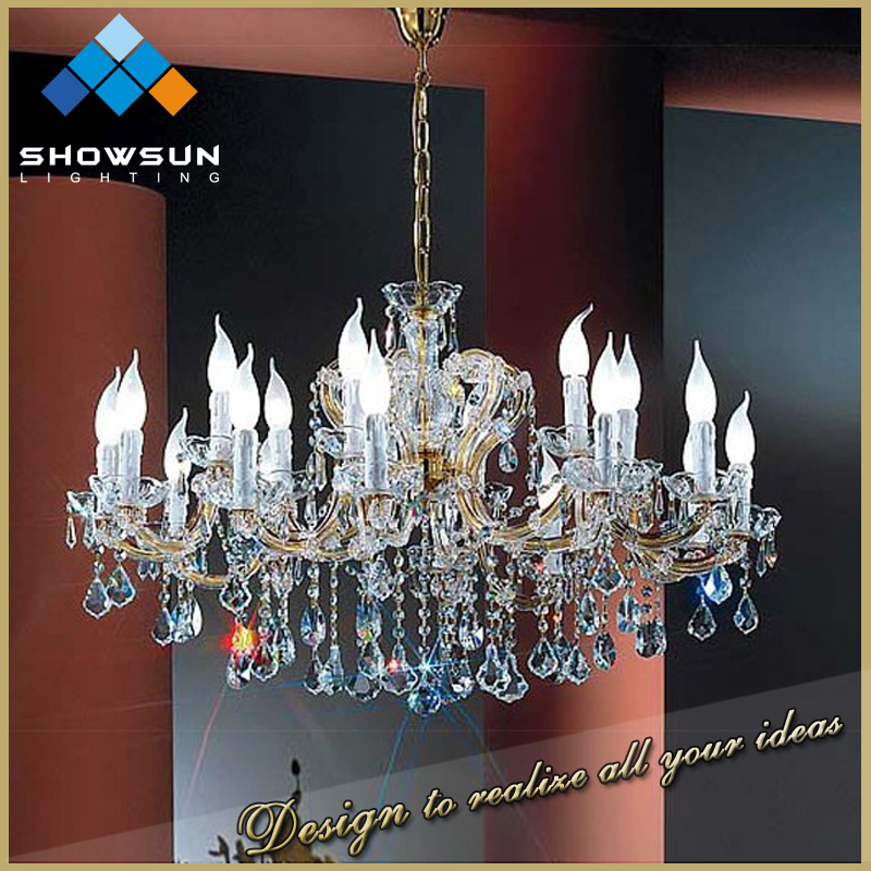 Guzhen made in China candle brass oriental cristal chandelier