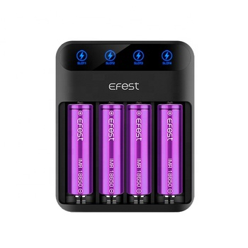 2018 New LCD Display 2A Fast Charger e fest 4bay Lush Q4 Universal li ion Battery Charger for 20700 21700 18650