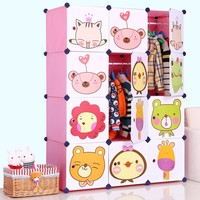 children bedroom space saver steel frame wardrobe FH-AL0041-12