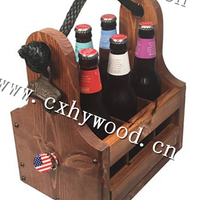 Vintage Wooden Crate For Beer With
