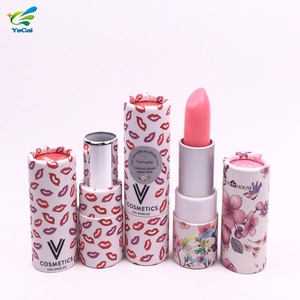 Free sample biodegradable cosmetic packaging eco friendly paper lipstick tube lip balm tube paper