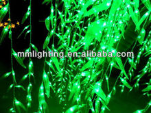 Green Leaf Outdoor PVC Metal LED Green Willow Tree Light || Vivid Decoration City Project Willow Leaf Light