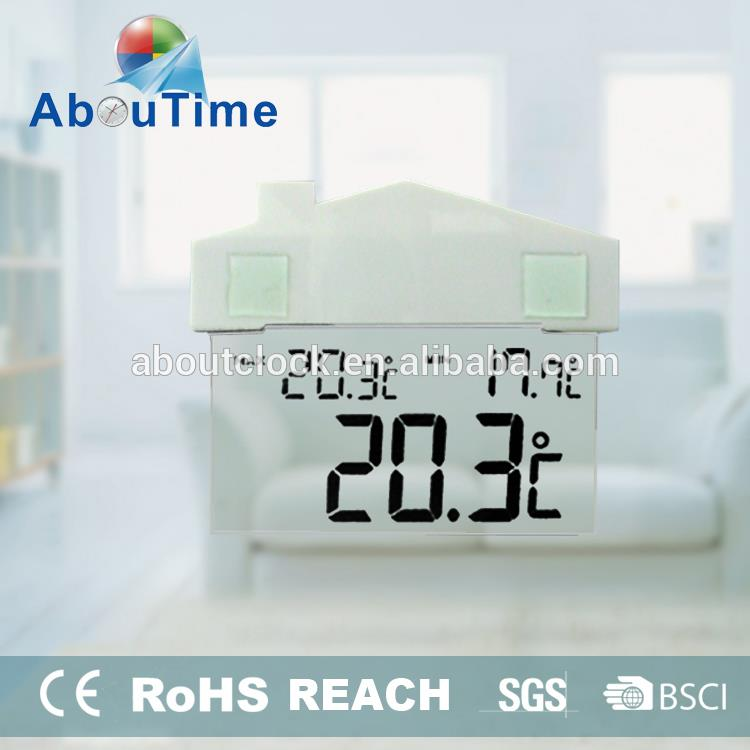 Decoration window shapeled digital clock wall mounted with chuck and lcd clock