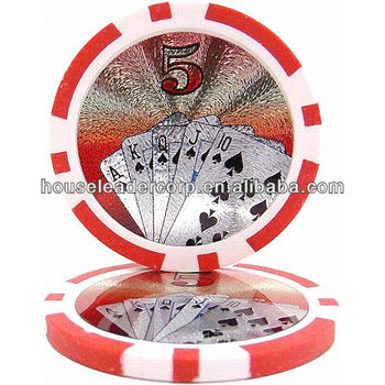 11.5gram numbered poker chips / custom numbered poker chips