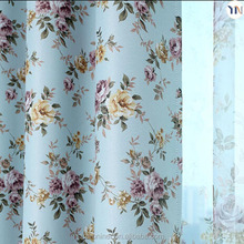 beautiful floral print curtain fabric polyester blackout curtain fabic Hangzhou textile fabric factory