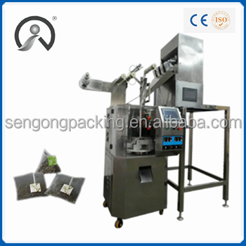 SG5026 stainless ultrasound sealing pyramid shape tea bag/herb packing machine for sale