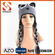 High quality funny animal knitted women winter hat for adult
