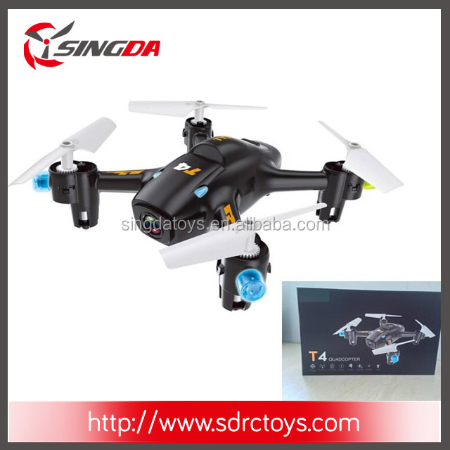 T4WH 2.4G Auto Altitude hold RC drone Quadcopter Wifi Real time 2.0MP Camera LED light RTF