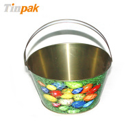 oval shape metal ice bucket, tin bucket