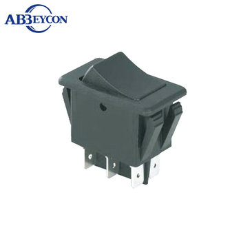 AS24 CE IBA-17-201 35A 12VDC ON-OFF/ ON-ON DPDT 6P rocker switch