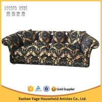 Antique Design Luxury Fabric Two Seater Loveseat Chesterfield Sofa
