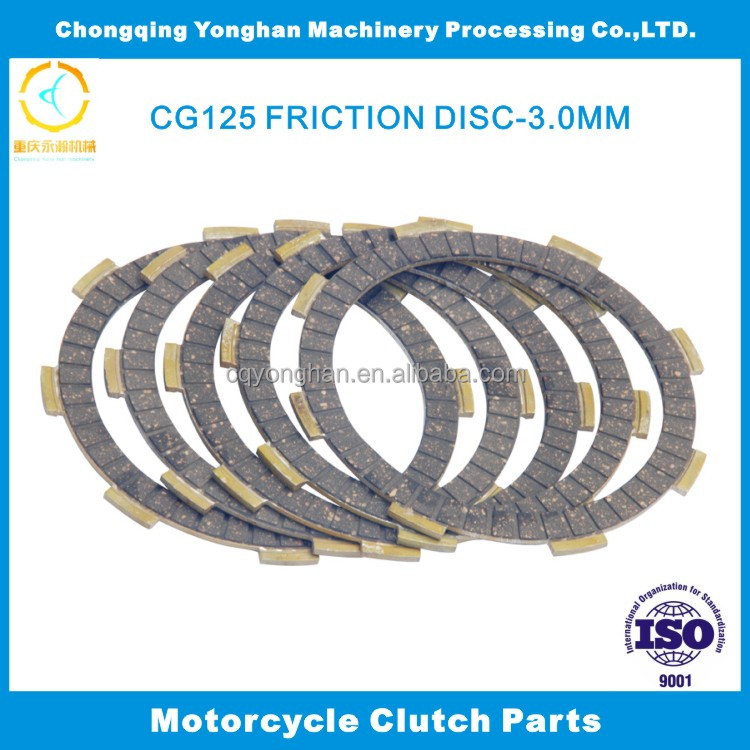 3.0mm thickness CG125 Chongqing Friction Clutch Coupling For Motorbike