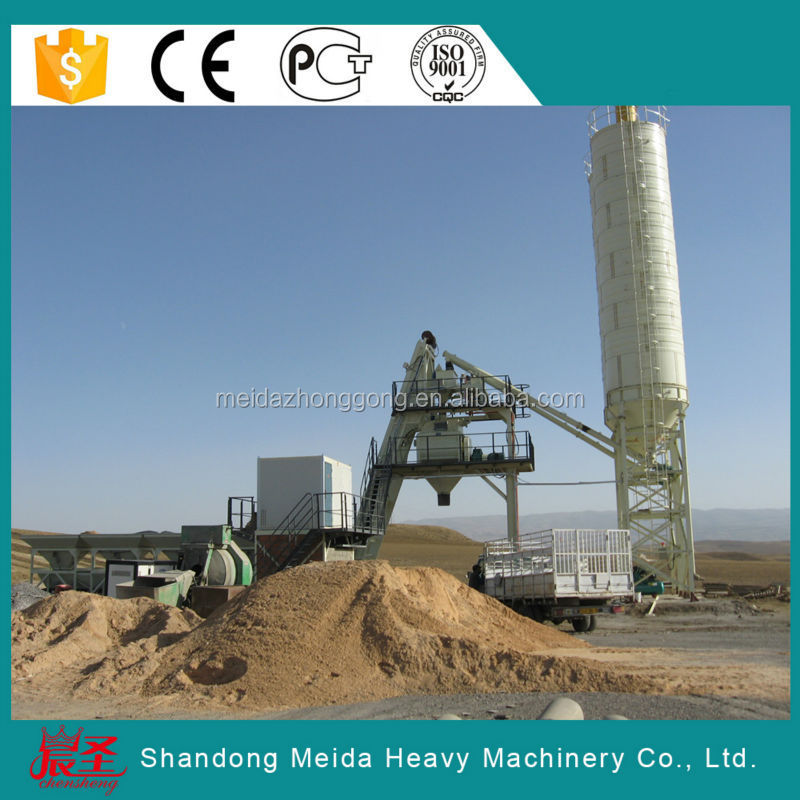 hzs75 75m3/h portable cement plants /concrete batching plant in south africa