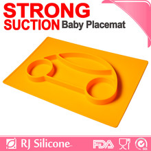 RJSILICONE cutely FDA food grade silicone placemat for kids convenient baby