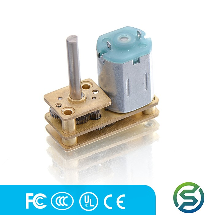 customized 12 volt dc worm geared motor for electronic product china supplier