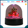 Led halloween pumpkin snow globe