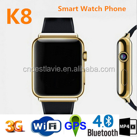 Waterproof WIFI Passomoter SIM hight quality gps wrist cell phone watch
