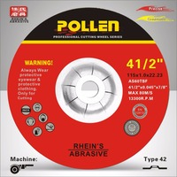 "China wholesale 4.5inch 9"" t41 universal abrasive cutting wheels for metal"