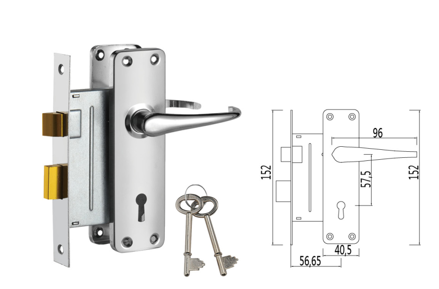 fire door stainless steel mortise lock sash cylinder lock for Africa ZX-003