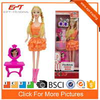 Cheap doll toy 11inch fashion dress girl toy for kids