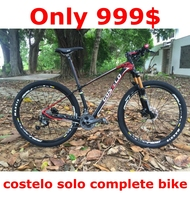 COSTELO SOLO Speed mountain bike 27.5 29 inch double disc bicicleta high quality tire complete bike suspension bicycle