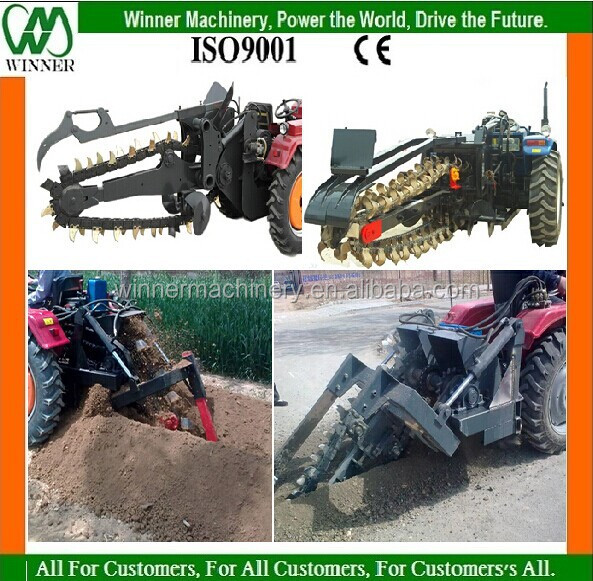 tractor mounted trench digging machine