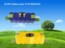 14.4V 3000mAh Ni-MH vacuum cleaner rechargeable battery pack replacement for Roomba 500 550 560 780