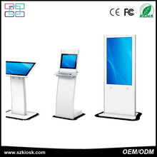 "55"" floor stand double side digital signage/lcd display/advertising screen floor display stand"