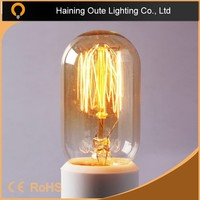 spiral/squirrel cage tungsten filament decorative Edison vintage light bulb,antique lamps hot sell