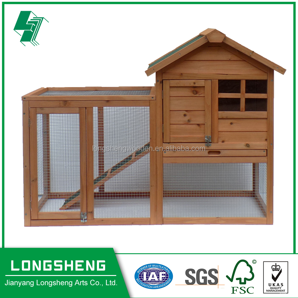 Outdoor Natural Color Wooden Animal Cage