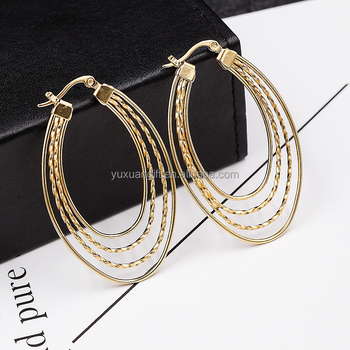 Layies New 2016 Latest Gold Earring Designs In Stainless Steel