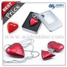 2013 Heart flash drive for valentine's gifts and wedding gifts new quality product